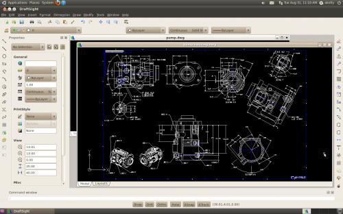 DraftSight  logiciel de CAO 2D