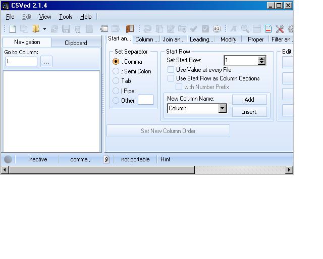 CSVed Editeur de fichiers Csv